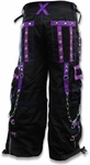 Tripp NYC Death Row Bondage Pants (Black/Purple)