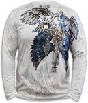 Xzavier Royal Wings  Long Sleeve T-Shirt