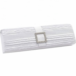 Bridal Clutch Handbag, White
