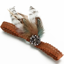 Camouflage Wedding Garter with Feathers