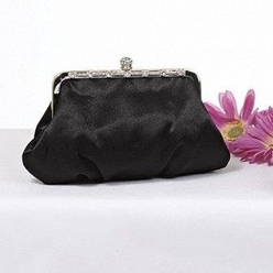 Framed Bridal Handbag, Black - SAVE 45%