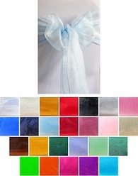 Organza Chair Sashes, 6/pk: 25 colors