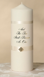 Two Shall Become One Unity Candle, Ivory-SAVE 15%