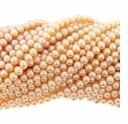 4-5mm Natural Pink Potato Freshwater Pearl Bead Strands