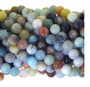 Amazonite Matrix 8mm  Round Beads 15 Inch Strand