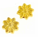 Bright Gold Plated 9x9mm Flower Beads (10PK)