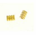 Gold Plated 6x4mm Tube Beads (10PK)