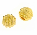 Gold Plated 7x6mm Oval Bead (10PK)