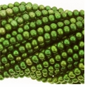 Green Potato Freshwater Pearl 5-5.5mm Bead Strand