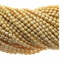Lt Gold Rice Freshwater Pearl 4-5mm Bead Strand
