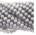 Silver 5-6mm Potato Freshwater Pearls Strand