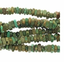 Turquoise Green 6x2mm Heshi Chip Beads 16 inch Strand