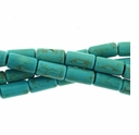 Turquoise IM Blue Green 10x5mm Tube Beads 15 Inch Strand