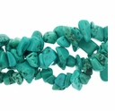 Turquoise Lt. Blue 7mm to 13mm Nugget  Bead Chips 16 inch Strand