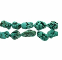 Turquoise x-Large (IM) Nugget Beads 16 Inch Strand