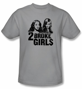 2 Broke Girls Kids T-shirt TV Show Broke Girls Silver Shirt Youth