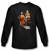 2 Broke Girls Long Sleeve Shirt TV Show Max And Caroline Black Shirt