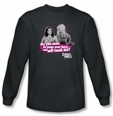 2 Broke Girls Long Sleeve T-shirt TV Show Soft Touch Charcoal Shirt