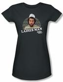2 Broke Girls Shirt Juniors Ladies Man Charcoal Tee T-Shirt