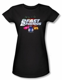 2 Fast 2 Furious Juniors T-shirt Movie Logo Black Tee Shirt