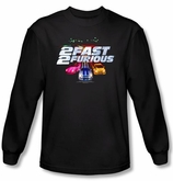 2 Fast 2 Furious Shirt Movie Logo Black Long Sleeve Shirt
