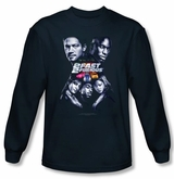 2 Fast 2 Furious Shirt Movie Poster Navy Blue Long Sleeve Shirt