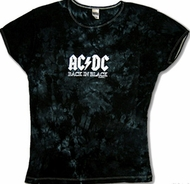 ACDC Juniors T-shirt Back In Black Tee Shirt