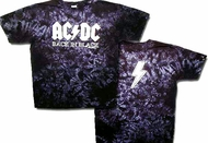 ACDC Tie Dye Shirt Back In Black Classic Rock Band Tee T-shirt
