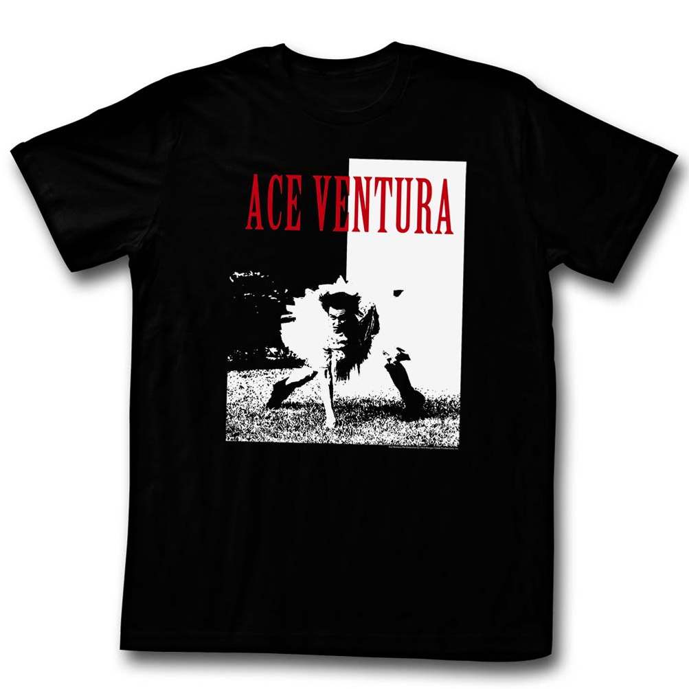 Ace Ventura Shirt Ace Adult Black Tee T-Shirt - Ace Ventura Shirts