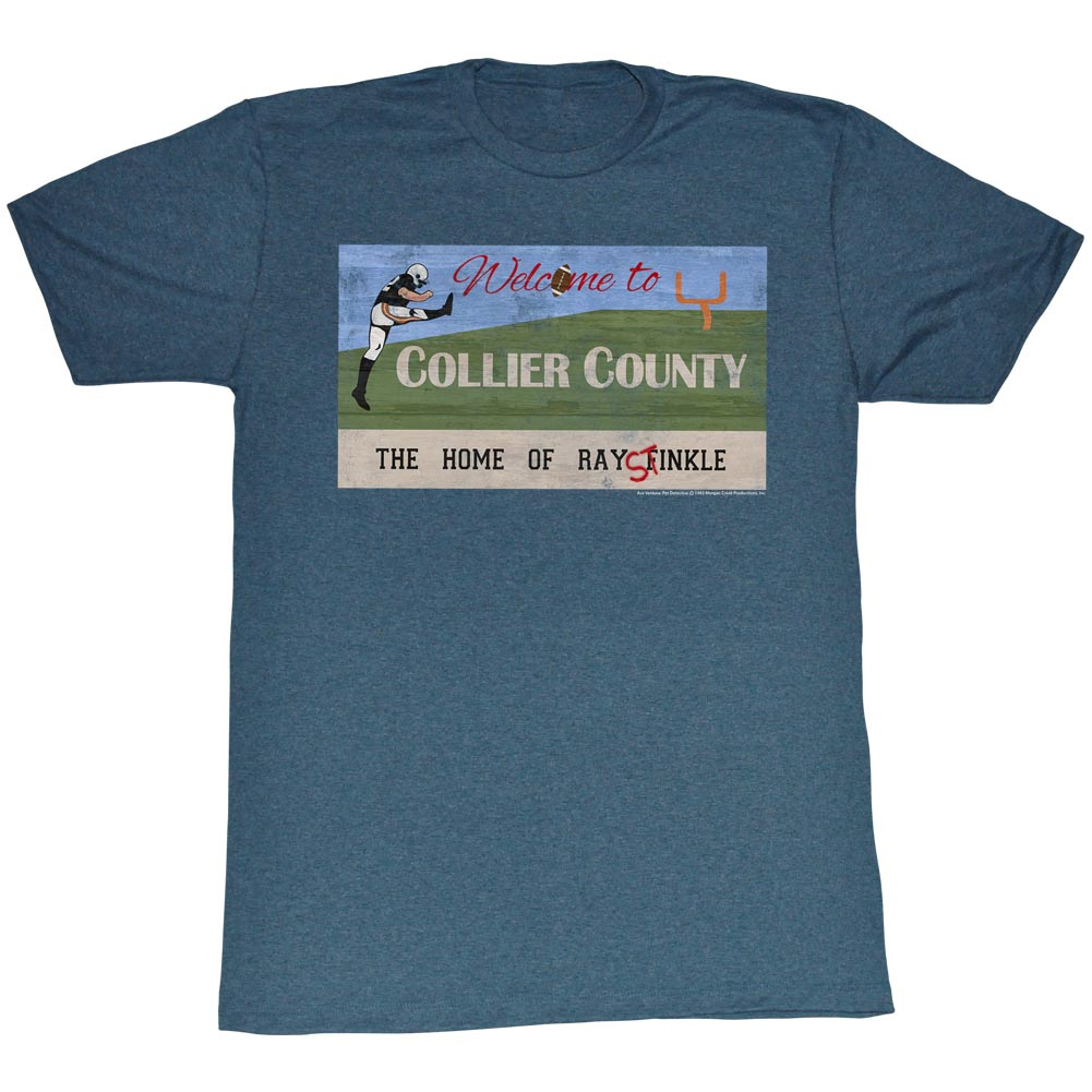 ... Collie County Adult Blue Heather Tee T-Shirt - Ace Ventura Shirts