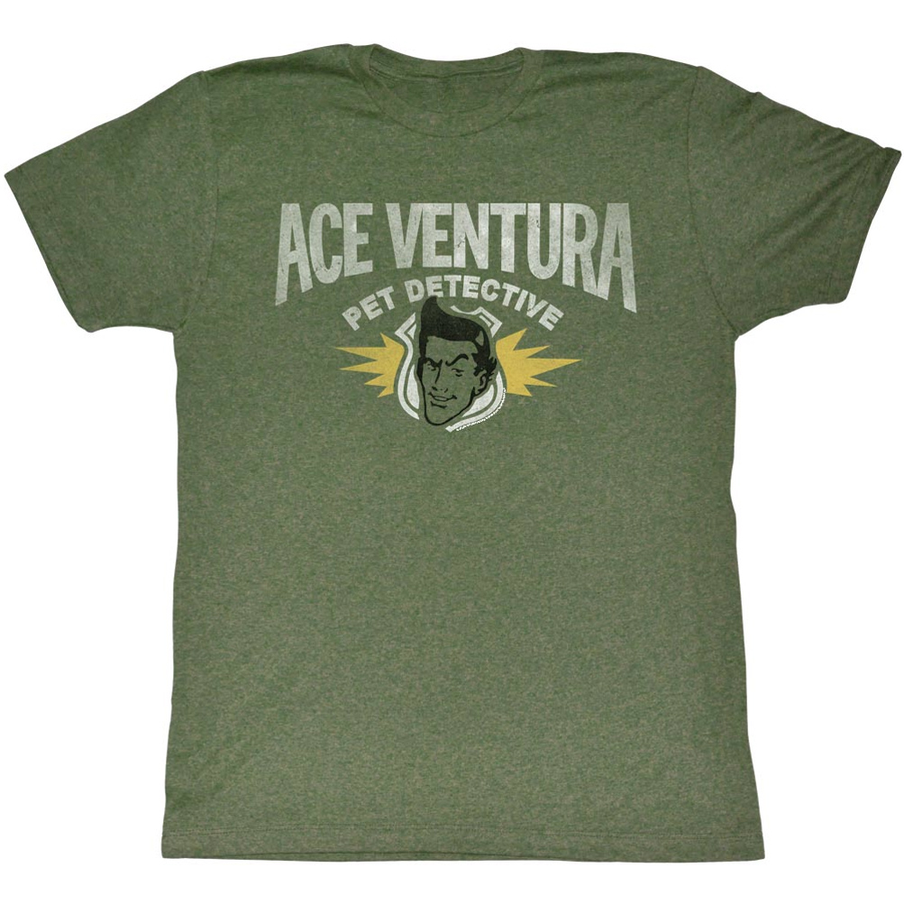 ... Ventura Shirt Pet Adult Heather Green Tee T-Shirt - Ace Ventura Shirts