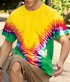 Adult Tie Dye Shirt - Multi-Color V-dye