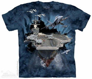 Aircraft Carrier Shirt Tie Dye Adult T-Shirt Tee