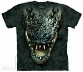 Alligator Shirt Tie Dye Adult T-Shirt Tee