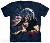 American Eagle Shirt Tie Dye Adult T-Shirt Tee