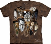 Animal Shirt Tie Dye T-shirt Wildlife Feathers Adult Tee