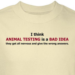 Animal Testing Shirt Bad Idea Nervous Give Wrong Answer Natural Tee