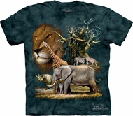 Animals Shirt Tie Dye African Collage T-shirt Adult Tee