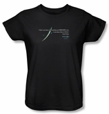 Apollo 13 Ladies T-shirt Movie Gene Quote Black Tee Shirt