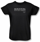 Apollo 13 Ladies T-shirt Movie Houston Black Tee Shirt