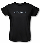 Apollo 13 Ladies T-shirt Movie Logo Black Tee Shirt