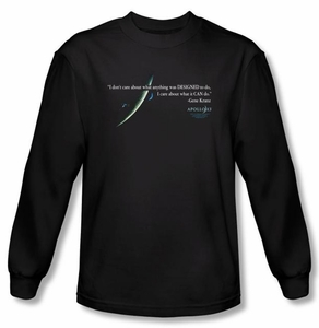 Apollo 13 Long Sleeve T-shirt Movie Gene Quote Black Tee Shirt