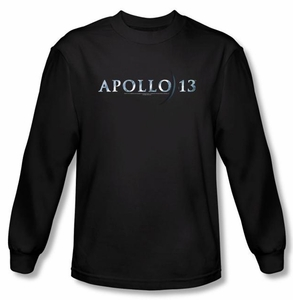 Apollo 13 Long Sleeve T-shirt Movie Logo Black Tee Shirt