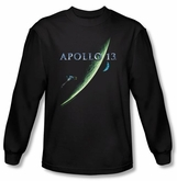 Apollo 13 Long Sleeve T-shirt Movie Poster Black Tee Shirt