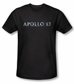 Apollo 13 Slim Fit T-shirt Movie Logo Adult Black Tee Shirt