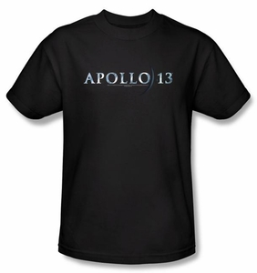 Apollo 13 T-shirt Movie Logo Adult Black Tee Shirt