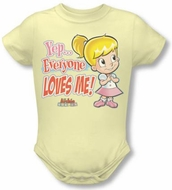 Archie Comics Yellow Infant Snapsuit - Everyone Loves Me