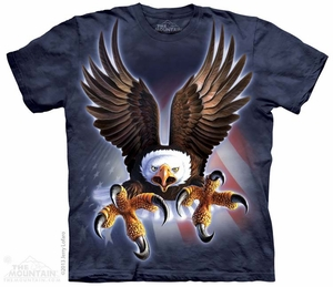 Attacking Eagle Shirt Tie Dye Adult T-Shirt Tee