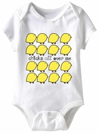 Baby Funny Romper Chicks All Over Infant White Babies Creeper