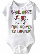 Baby Funny Romper Diaper Loaded Infant White Babies Creeper